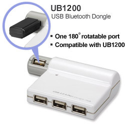 HU2B41 USB 2.0 4-Port Dongle Hub